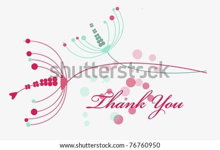 Dandelion thank you card Eps 10 - stock vector