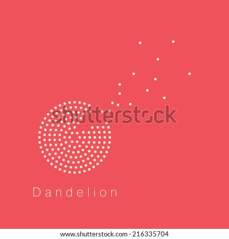 Dandelion vector logo design template - stock vector