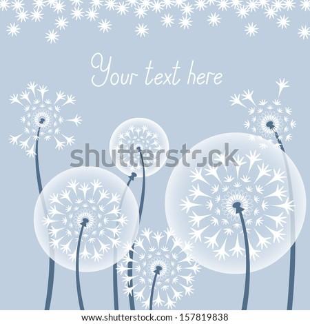 Dandelions. Background from dandelions. - stock vector