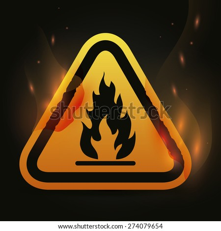Danger advert design over black background, vector illustration.