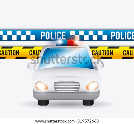 danger and caution design, Advertising sign, vector illustration - stock vector