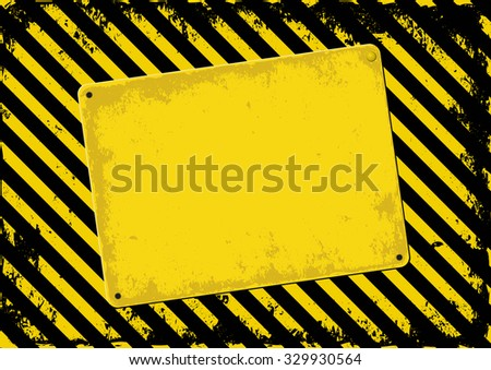 danger background and skewed plaque - stock vector