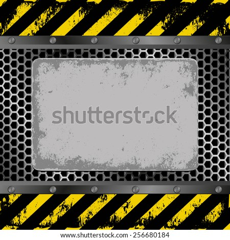 danger background with grunge plaque - stock vector