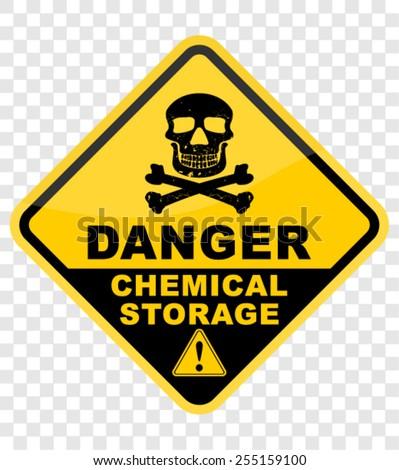 danger, chemical - stock vector