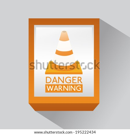 Danger design over gray background, vector illustration - stock vector