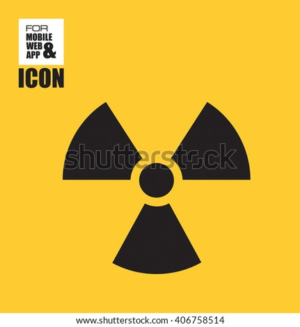 Danger nuclear icon - stock vector