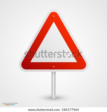 Danger road sign. Vector - stock vector