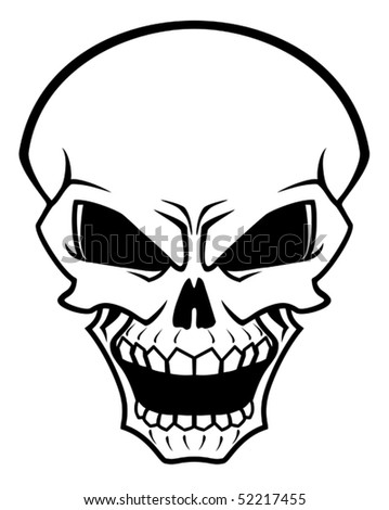 Danger skull as a warning or evil concept. Jpeg version also available in gallery - stock vector