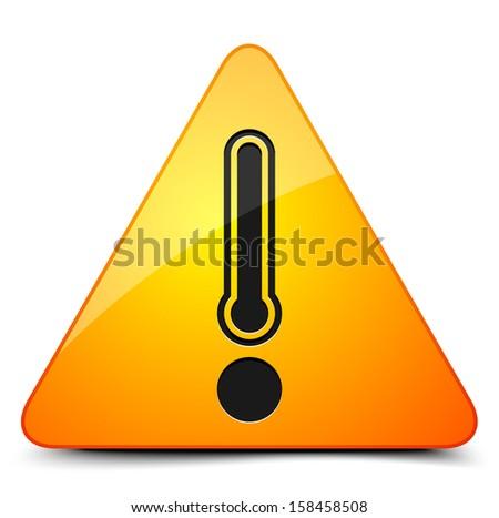 Danger temperature sign - stock vector
