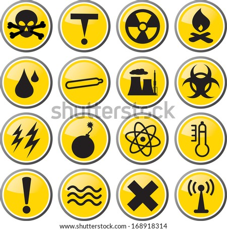 danger toxic hazard icon illustration - stock vector