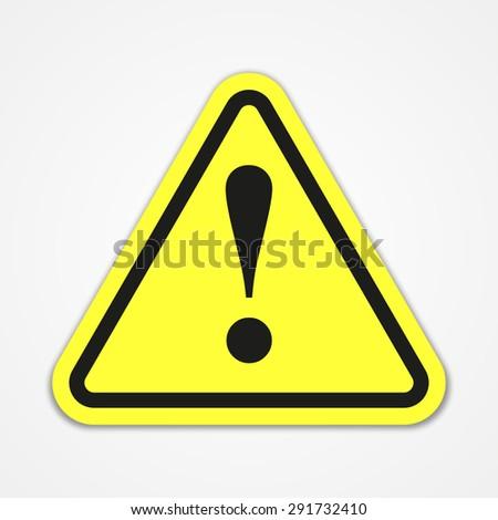 Danger warning attention sign - stock vector