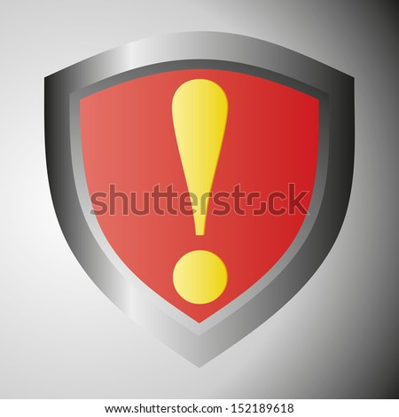 Danger warning sign. Yellow exclamation mark on red. Vector illustration. - stock vector