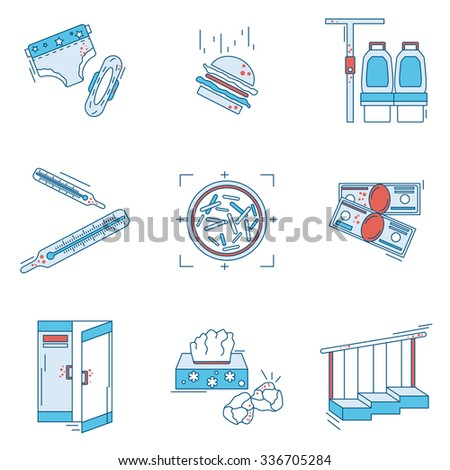 Dangerous Antibiotic Resistant Bacteria Vector Thin Line Icon. Laboratory Studies Of Viruses And Germs. Perfect For Infographic - stock vector