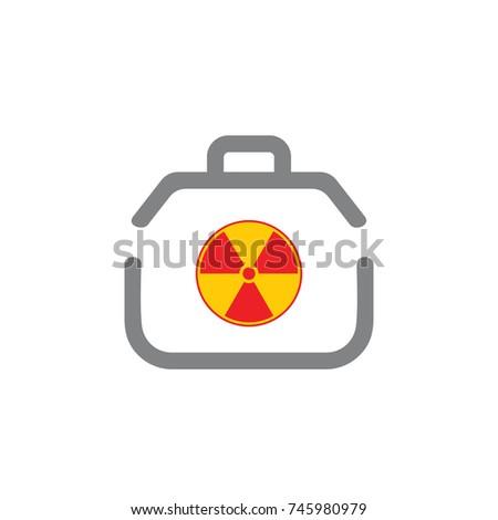 Dangerous Good Handbag Symbol Icon Vector Stock Vector 745980979