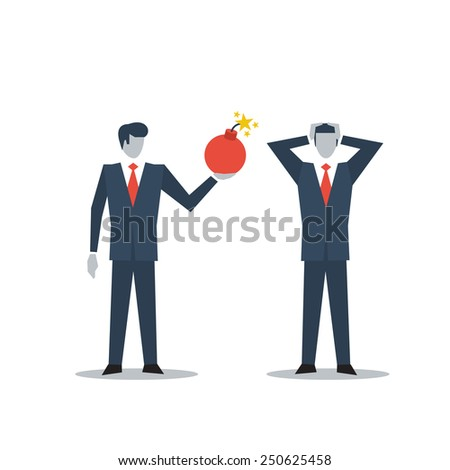 Dangerous situation - stock vector