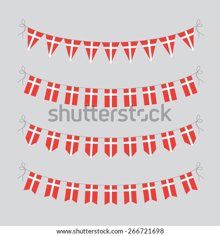 danish bunting - stock vector