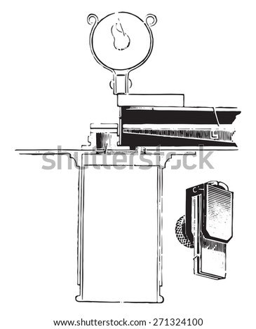 Dare's hemoglobinometer, vintage engraved illustration.