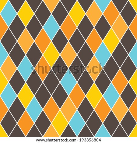 dark abstract seamless colorful lined mosaic rhomb wallpaper background pattern design - stock vector