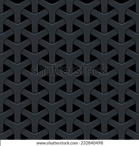 Dark abstract vector background with a metal grid. Seamless texture - stock vector