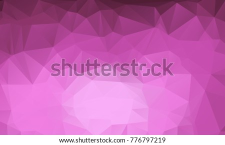 Dark And Light Purple Color Polygon Background Design, Abstract Geometric  Origami Style With Gradient