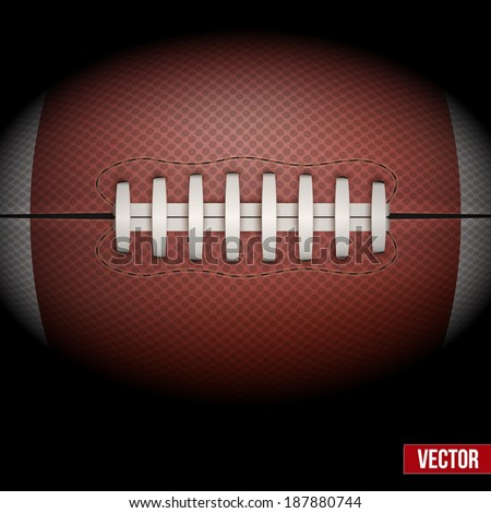 Dark Background of American Football ball isolated. Realistic Vector Illustration. - stock vector