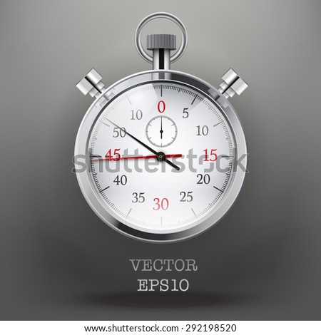 Dark Background with analog stopwatch. Vector illustration - stock vector
