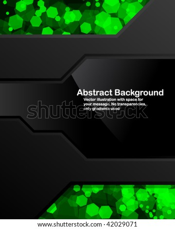 Dark background with random transparent cells. Vector illustration in RGB colors. - stock vector