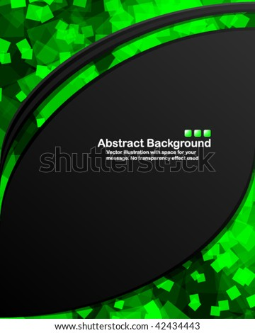 Dark background with random transparent squares. Vector illustration in RGB colors. - stock vector