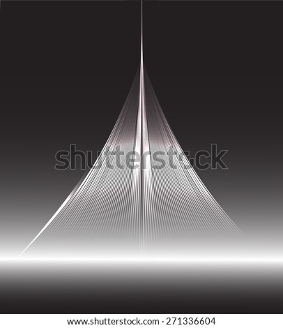 dark black color Light Abstract Technology background for computer graphic website internet and business. Seamless wallpaper pattern. wave - stock vector