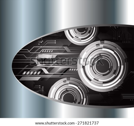 dark black color Light Abstract Technology background for computer graphic website internet and business. circuit. vector illustration. Silver, metal, steel. text box. Brochure. card.