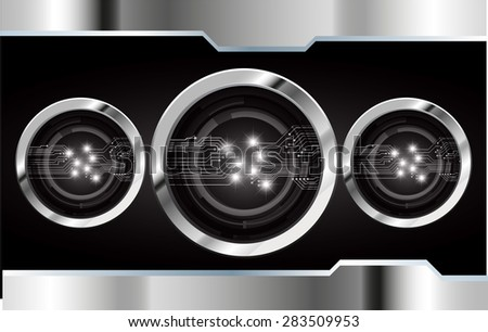 dark black color Light Abstract Technology background for computer graphic website internet and business. circuit. vector illustration. abstract digital . silver. star