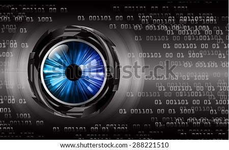 dark black color Light Abstract Technology background for computer graphic website internet and business. circuit. vector illustration. infographics. wave. beam. ray. eye. eyeball