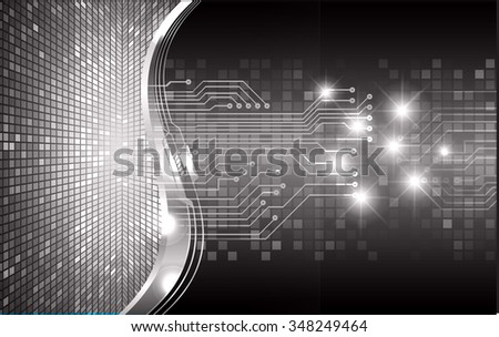 dark black color Light Abstract Technology background for computer graphic website internet and business. circuit. illustration. digital. infographics. binary code background. www. vector.one. zero. - stock vector