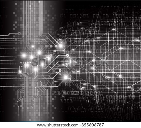 dark black color Light Abstract Technology background for computer graphic website internet and business. circuit. illustration. digital. infographics. binary code.