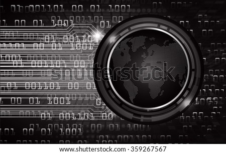 dark black color Light Abstract Technology background for computer graphic website internet and business.circuit.illustration.infographics.binary code. World map. zero one