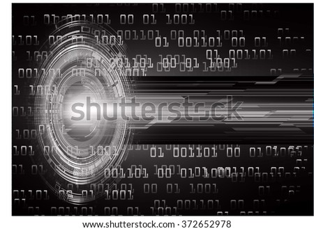 dark black color Light Abstract Technology background for computer graphic website internet and business. circuit. illustration.digital.infographics. binary code. eye scan virus