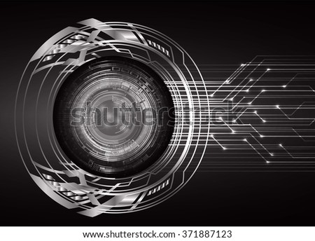 dark black Light Abstract Technology background for computer graphic website internet and business. circuit. illustration.digital.infographics. binary code. www.motion move blur. eye scan virus