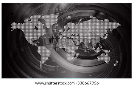 Dark black light abstract technology background stock vector dark black light abstract technology background for computer graphic website internet businessrcuitlustration gumiabroncs Images