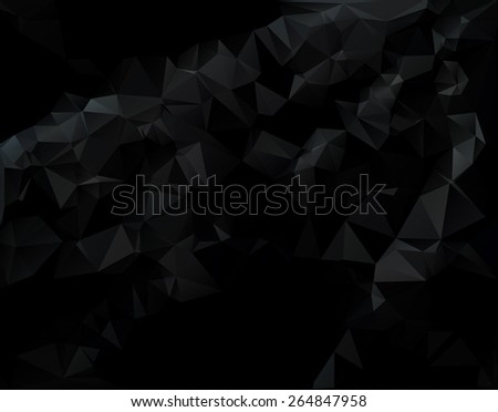 Dark Black Polygonal Mosaic Background, Creative  Business Design Templates - stock vector