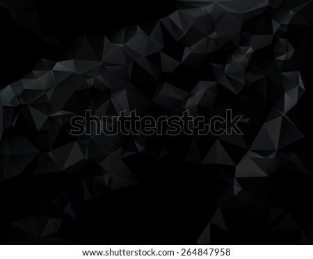 Dark Black Polygonal Mosaic Background, Creative  Business Design Templates - stock vector