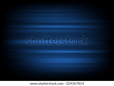 Dark blue abstract blurred stripes vector background - stock vector