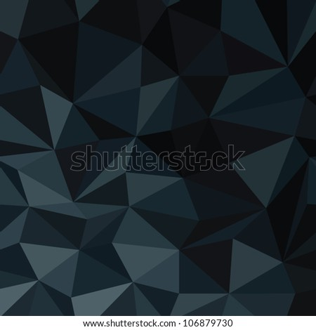 Dark Blue Abstract Diamond Pattern Background. Vector Illustration, EPS8 - stock vector