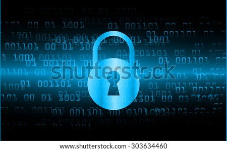 dark blue Abstract digital conceptual technology security background with lock. computer technology website internet web. infographics