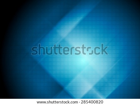 Dark blue abstract tech background with squares texture. Vector design - stock vector