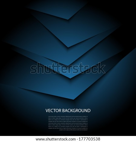 dark blue background with realistic shadows - stock vector