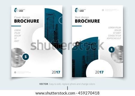 Dark Blue Brochure Design Corporate Business Template For Report Catalog Magazine Layout