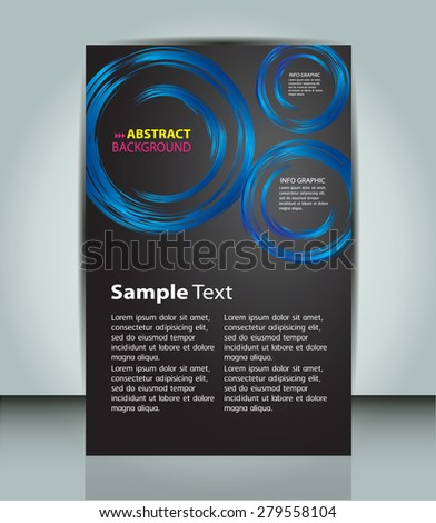 dark blue circle Light Abstract Technology background for computer graphic website internet and business. vector illustration. text box. Brochure. card. banner flyer magazine. Design label. black