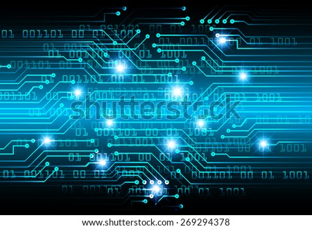 dark blue color Light Abstract Technology background for computer graphic website internet and business. circuit. vector illustration. star