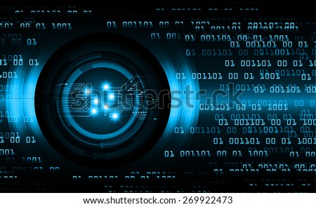 dark blue color Light Abstract Technology background for computer graphic website internet and business. circuit. vector illustration. number