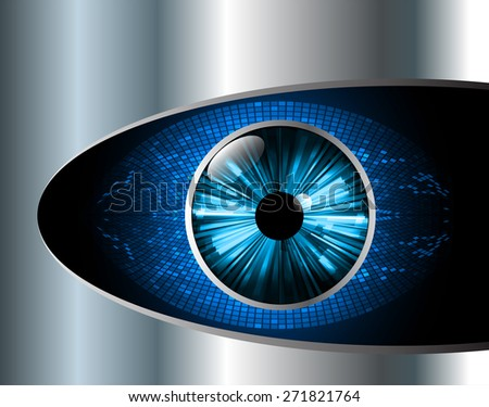 dark blue color Light Abstract Technology background for computer graphic website internet and business. circuit. vector illustration. eye. eyeball. Silver, metal, steel. text box. Brochure. card.